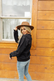 Take a Hike Pullover in Black