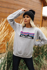 Take a Hike Pullover in Grey