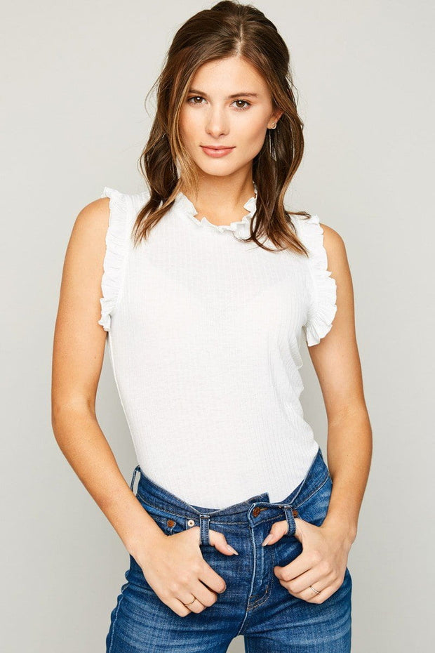Sabrina Top in White