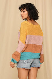 Lively Color Block Sweater