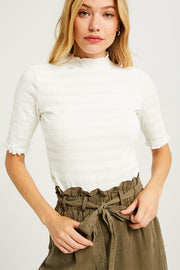 Dani Mock Neck in Ivory