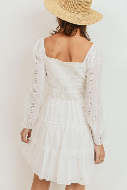 Lennyn Eyelet Smocked Dress