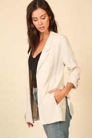 Business as Usual Linen Blazer