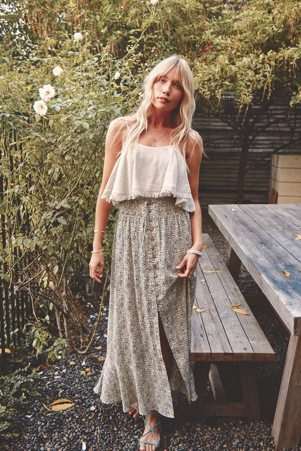 Coco Floral Smocked Waist Maxi Skirt