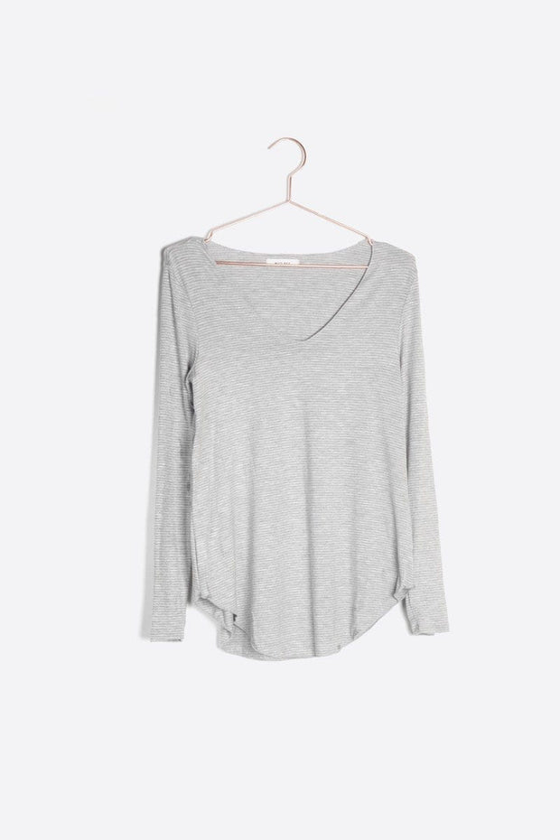 Reynolds Stripe Top in Grey