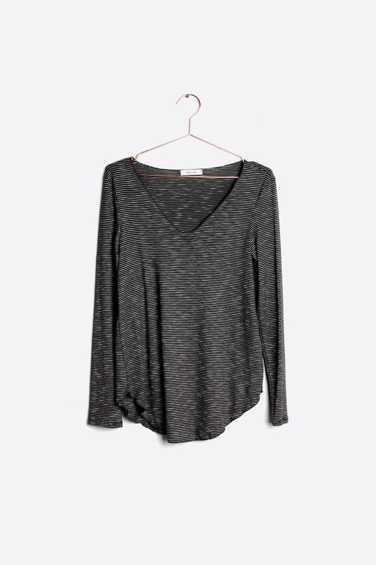 Reynolds Stripe Top in Black