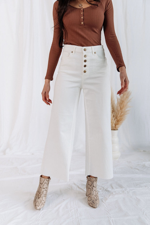 Cyd Pants in White - RESTOCK
