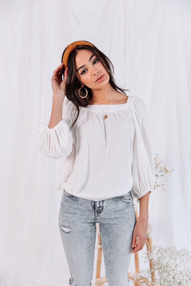 La Jolla Top in White