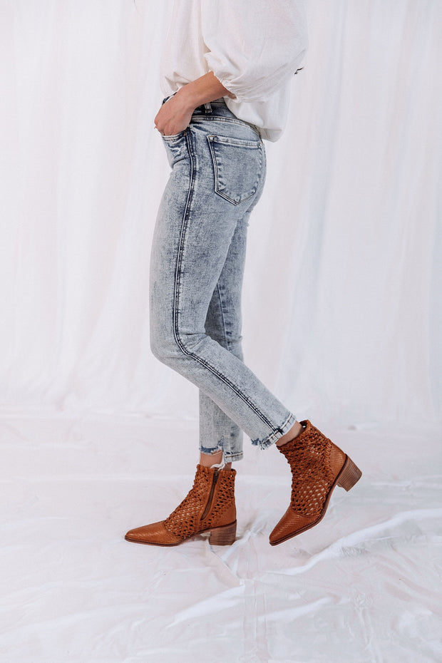 Flying Monkey High Rise Distressed Denim