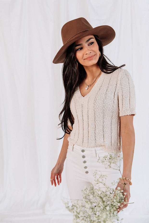Gianna Knit Top in Ivory
