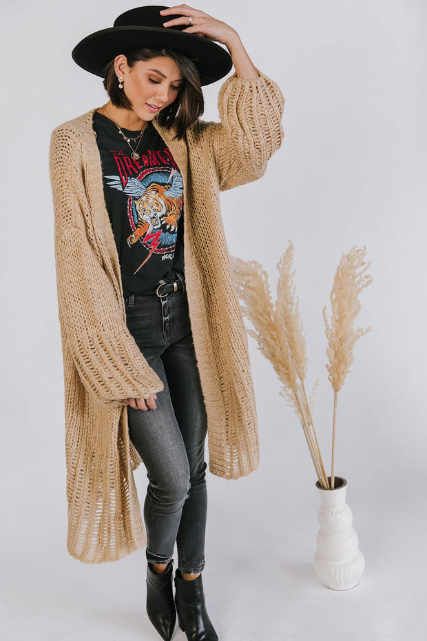 Halston Cardigan in Wheat