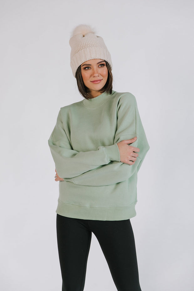No Plans Pullover in Sage