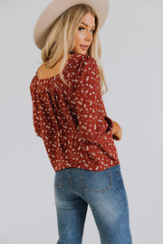 Cecile Floral Top