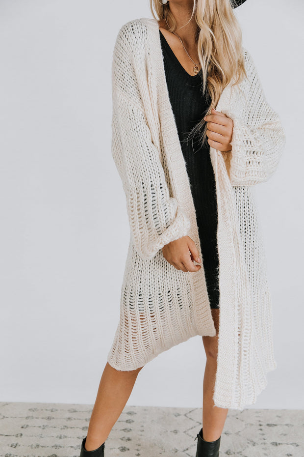 Halston Cardigan in Ivory