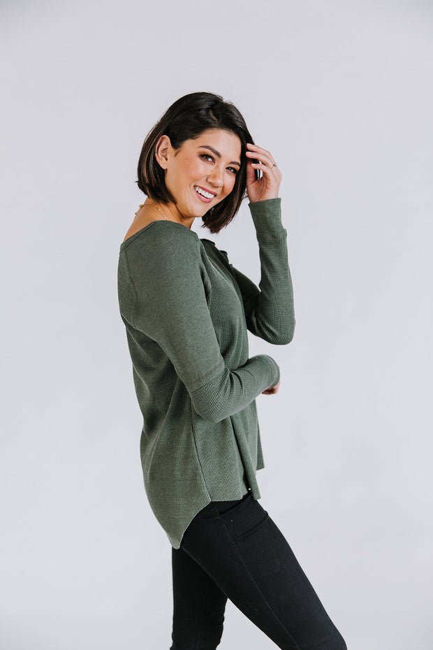 Dean Top in Olive