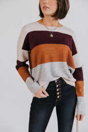 Daybreak Color Block Sweater