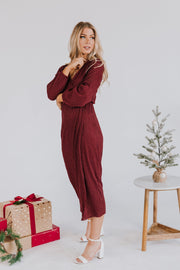 Boughs of Holly Midi Dress