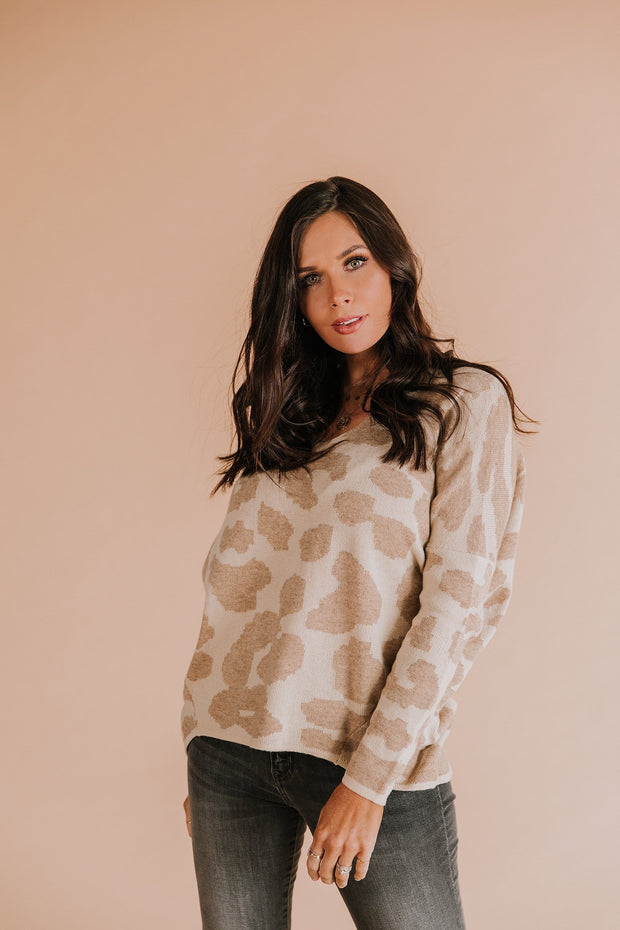 Thea Leopard Sweater