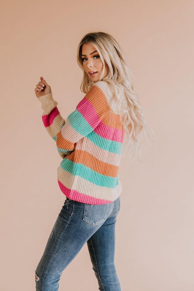 Mimi Stripe Knit Sweater
