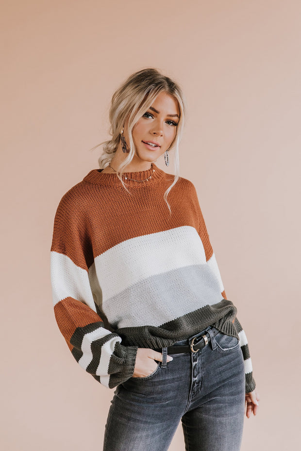 Ashford Color Block Sweater - RESTOCK