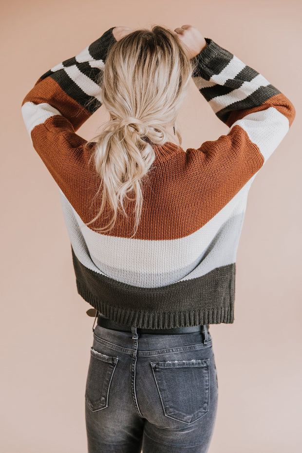 Ashford Color Block Sweater