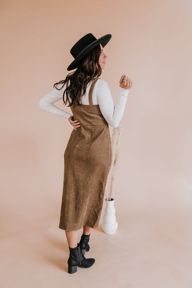 Nikki Corduroy Midi Dress