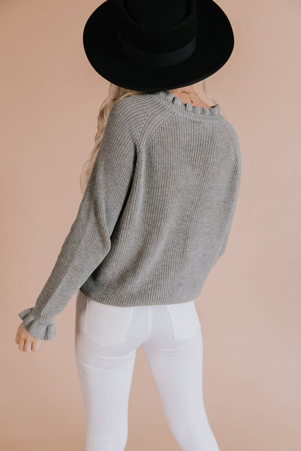 Dori Ruffle Knit Sweater
