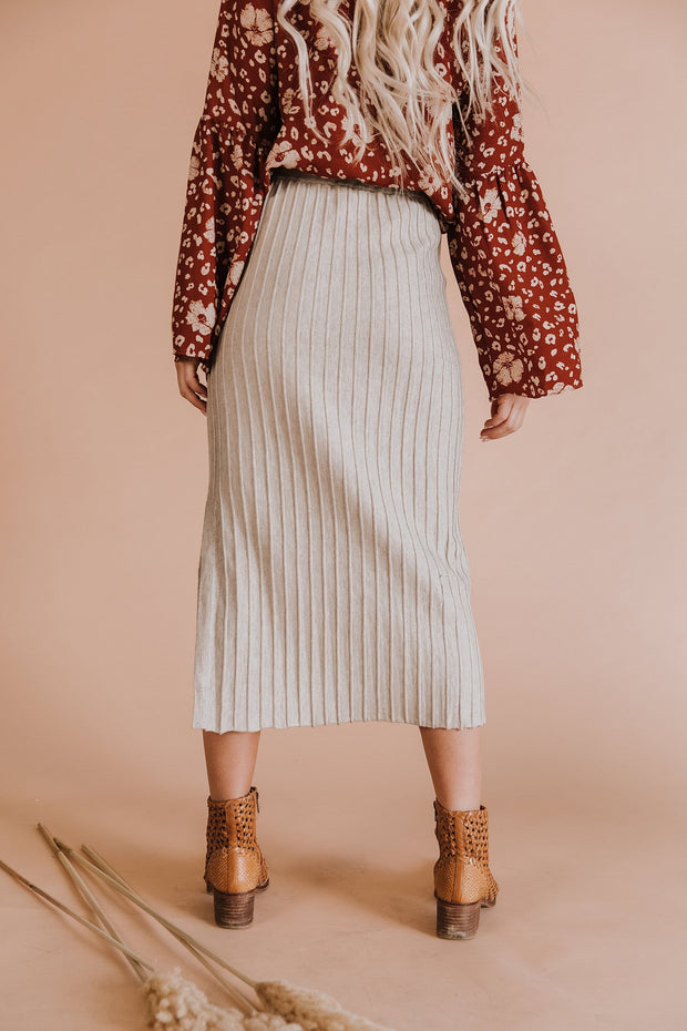 Nadine Ribbed Midi Skirt