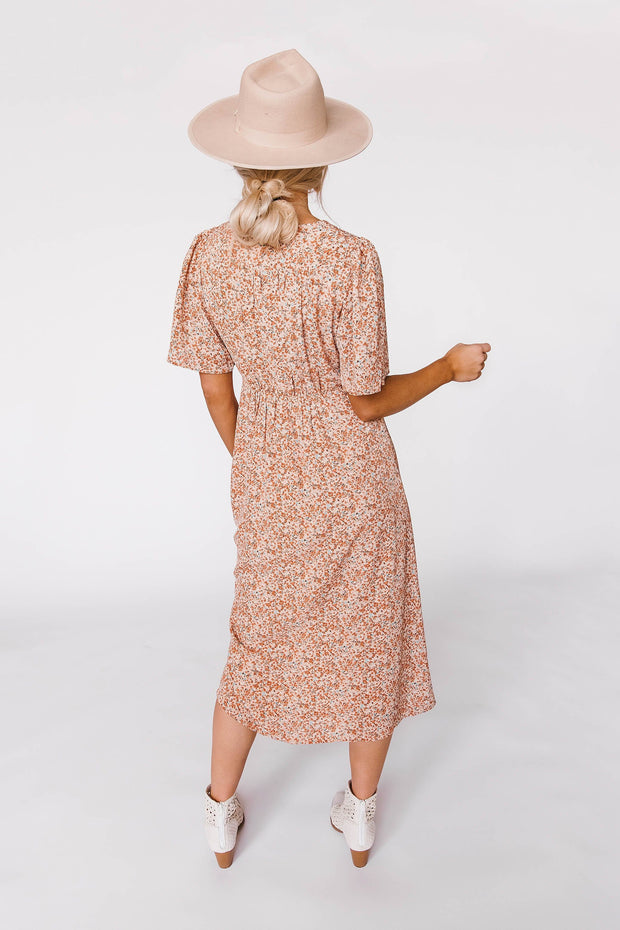 Sweet Blossom Midi Dress