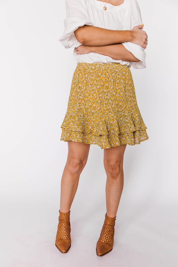 Sunshine On My Mind Floral Skirt
