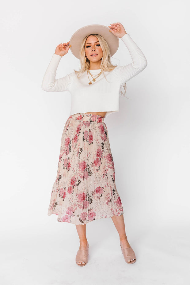 Tiffany Floral Midi Skirt