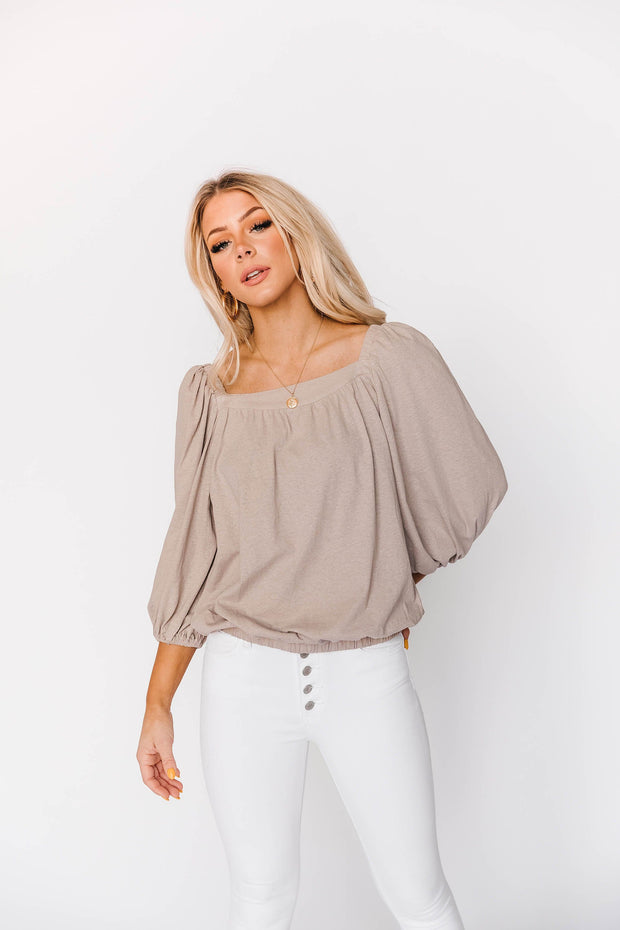 La Jolla Top in Taupe