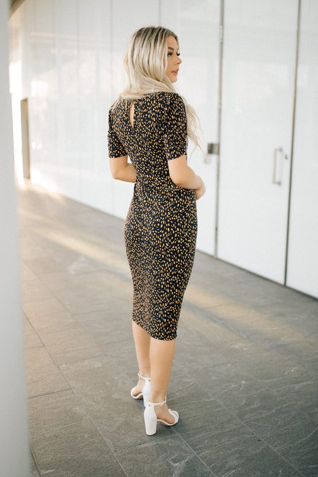 Audrey Spotted Midi Dress