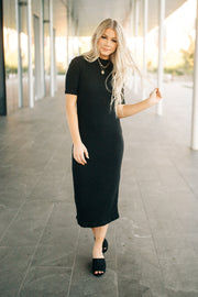 Mariah Mock Neck Midi Dress