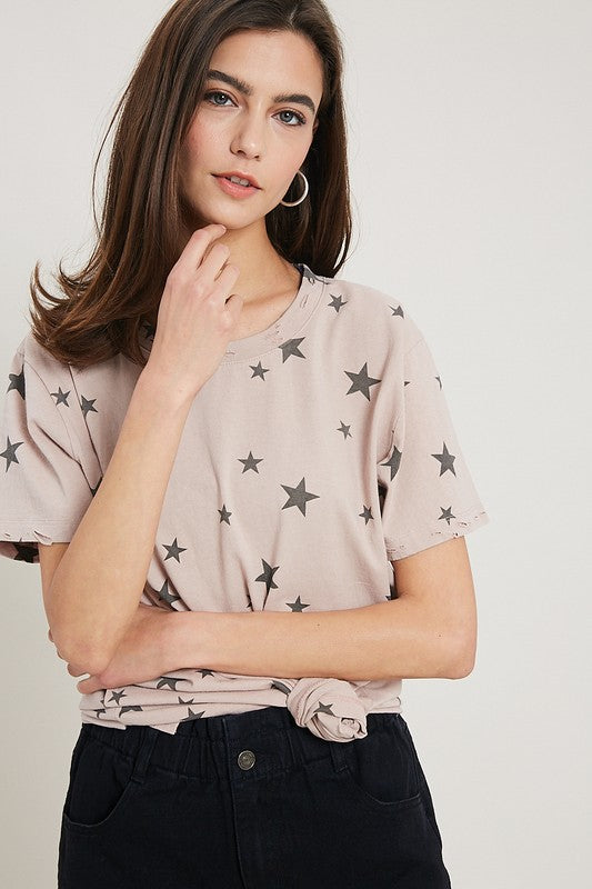 Stellar Tee in Dusty Pink