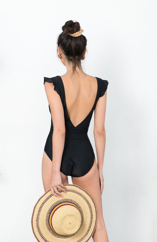 Cabo Black One Piece Swimsuit