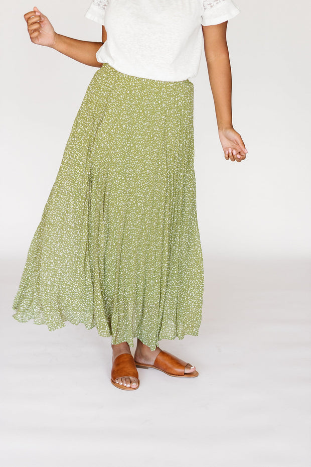 Brooks Spotted Maxi Skirt