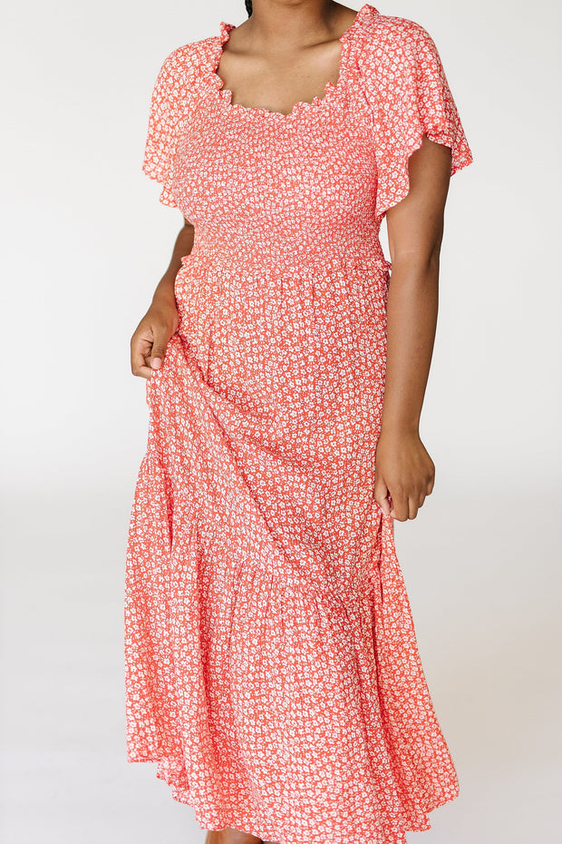 Catalina Floral Smocked Maxi Dress