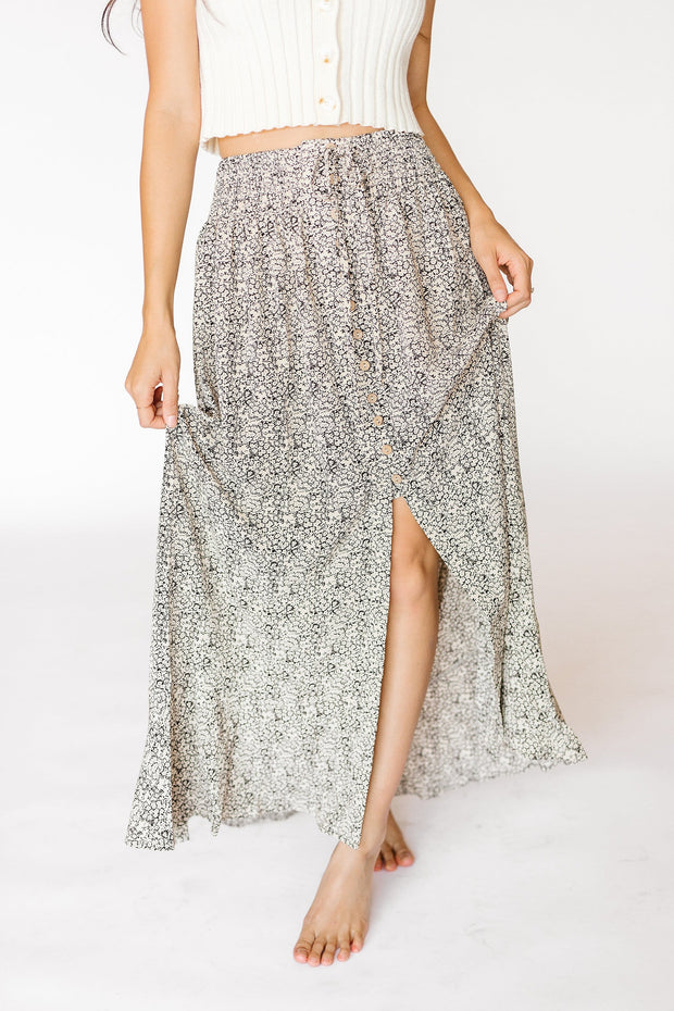 Coco Floral Smocked Waist Maxi Skirt - RESTOCK