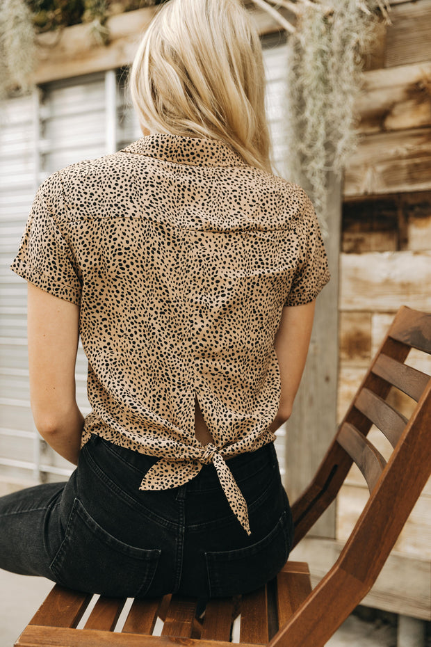 Feline Fine Button-up Top