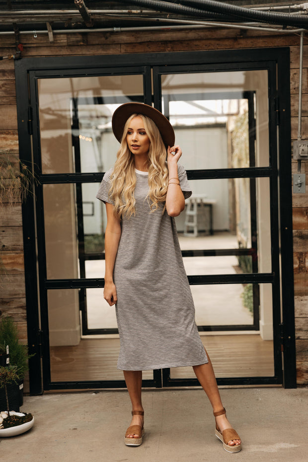 Charlize T-shirt Midi Dress