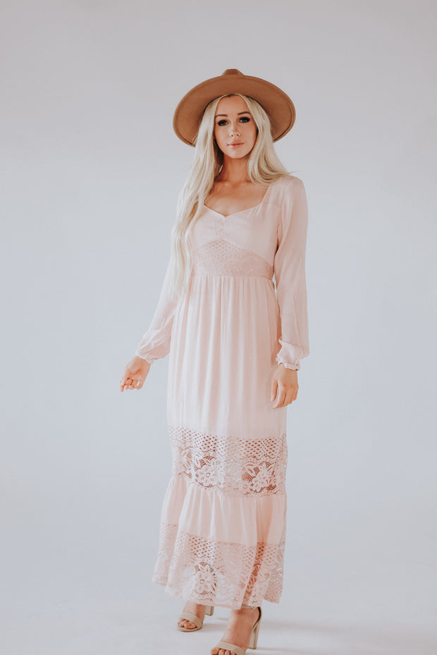 RESTOCK - Mae Crochet Lace Maxi Dress