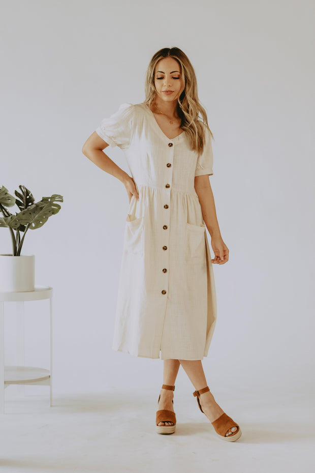Destiny Linen Dress