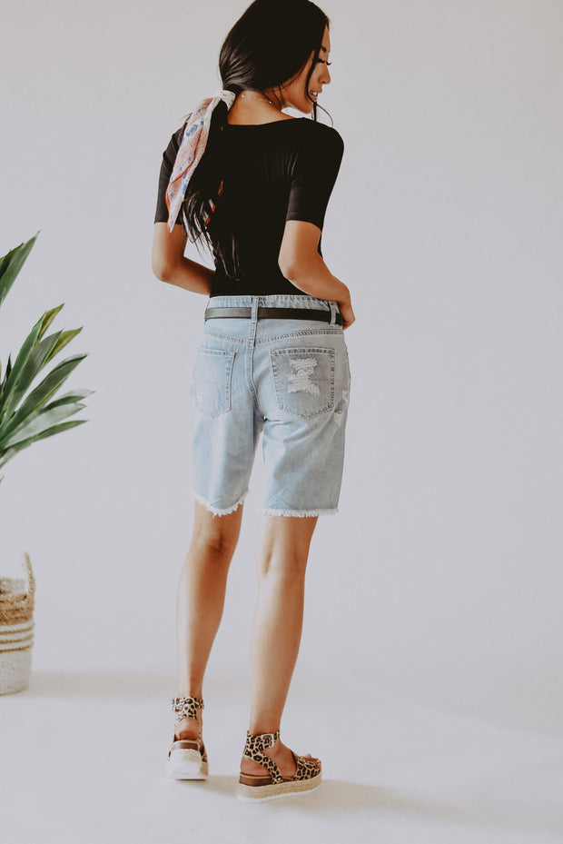 Dani Distressed Bermuda Shorts