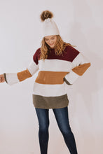 RESTOCKED - Sugar Plum Color Block Sweater