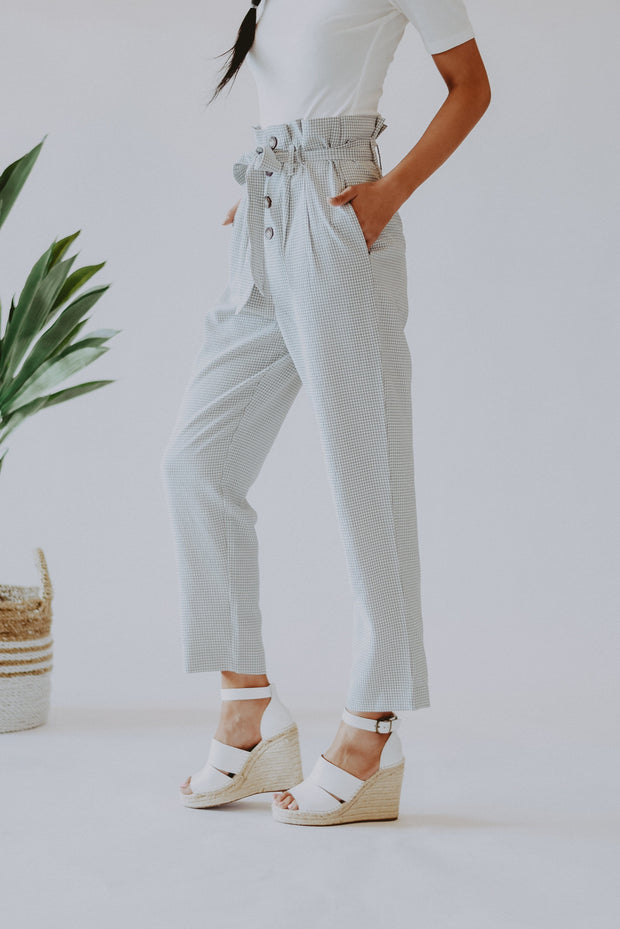 RESTOCK - Better Together Seersucker Gingham Pants