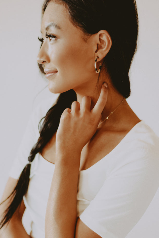 Cass Tortoise Hoop Earrings