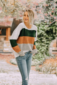 RESTOCKED - Nellie Color Block Sweater