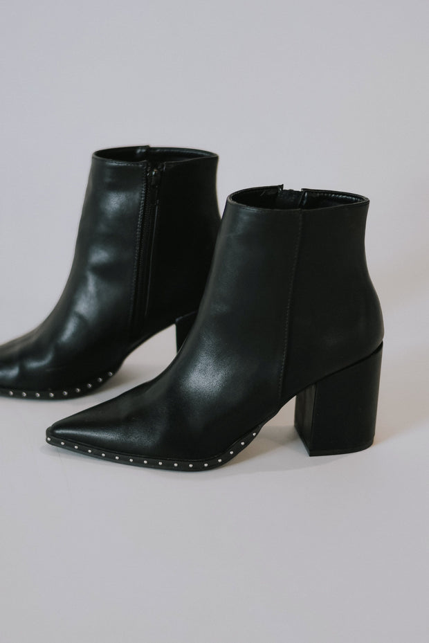Franco Studded Vegan Leather Booties