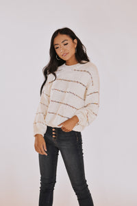 RESTOCKED - Funfetti Pom Stitched Sweater